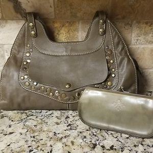 Patricia Nash Ergo Studded Shoulder Bag & Wallet